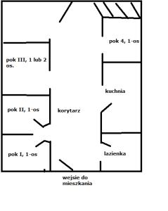 Plan podziału mieszkania made by Paint
