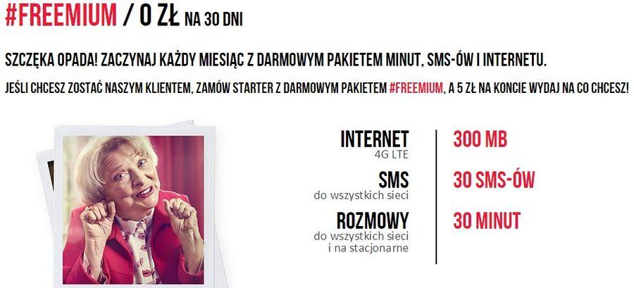 Oferta Freemium na virginmobile.pl
